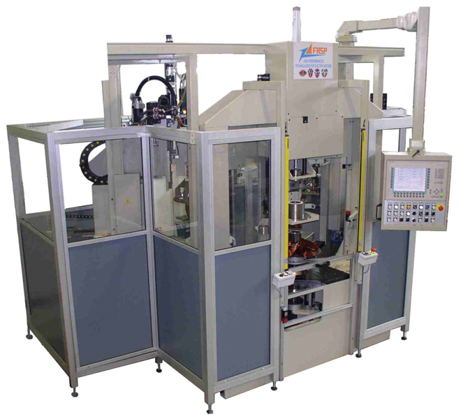 fasp coil winding and coil inserting transfer machine